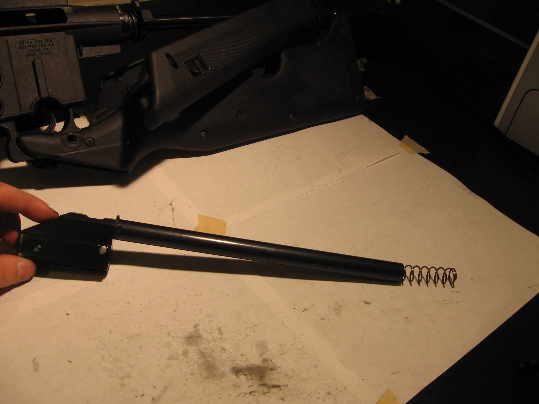 Disassembling, cleaning, and reassembling a Kel-Tec SU-16B rifle